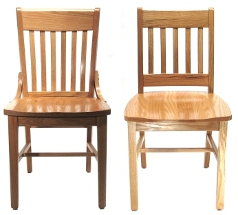 Two Wood Restaurant Chair Styles