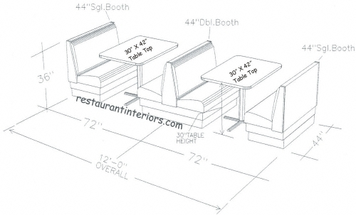 Genial Restaurant Booths Space Requirement