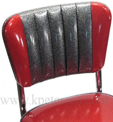 Two-tone channelback diner chair