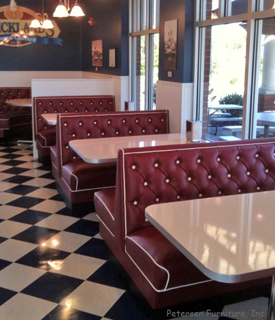 Superieur Diner Restaurant Booths Diamond Tufted