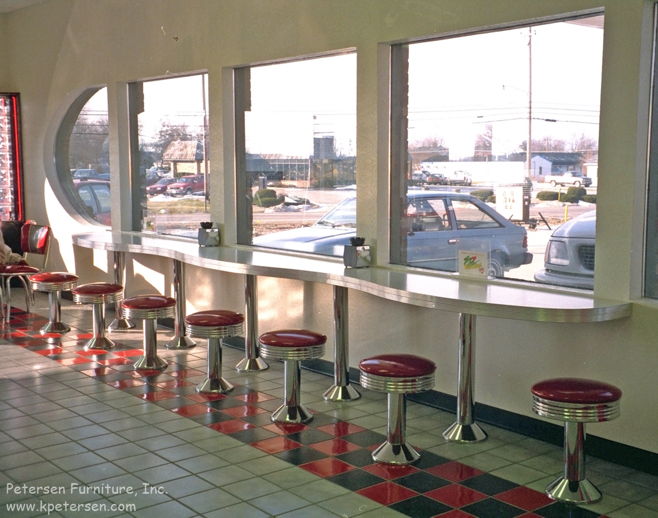 Soda Fountain Stools and Curvy Counter