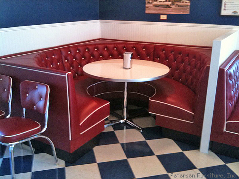 Diner Restaurant Booth 3 4 Circle